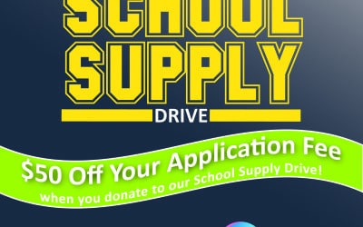 Future Medical and Dental Assistants can save now with a donation to our School Supply Drive