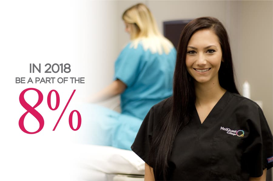 Be A Part of the 8% in 2018!